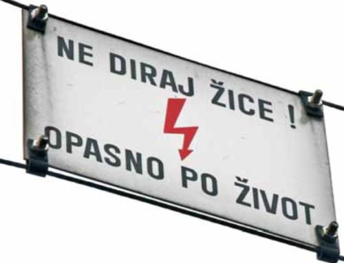 Brošura: Opasnost od strujnog udara uz prugu